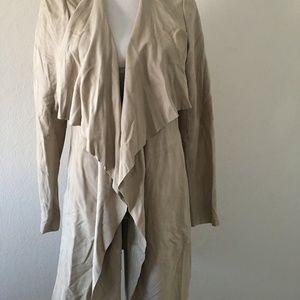 Diane von Furstenberg Lamb Skin Wrap Jacket Size S